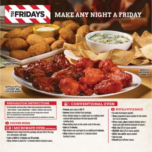 TGI Fridays Crispy Buffalo Style Chicken Wings Perspective: back