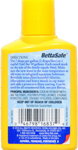Tetra Bettasafe Water Conditioner Perspective: back