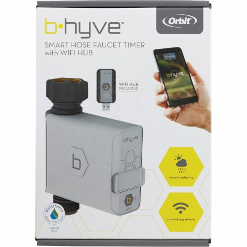 Orbit B-hyve Smart Programmable 1 zone WiFi Hose Faucet Timer - Case Of: 1; Perspective: back