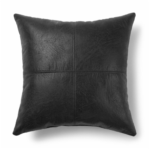 Brentwood Nobuck Faux Leather Decor Pillow Perspective: back