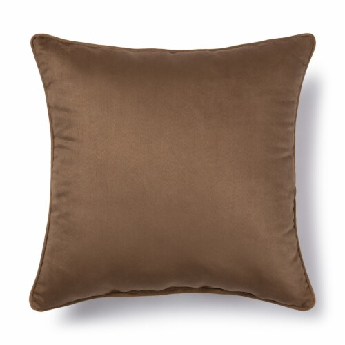 Brentwood Faux Suede Decor Pillow - Bark Perspective: back