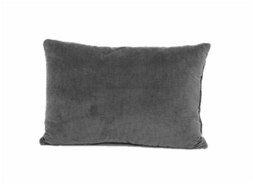 Brentwood Originals Ripple Décor Pillow - Grey Perspective: back