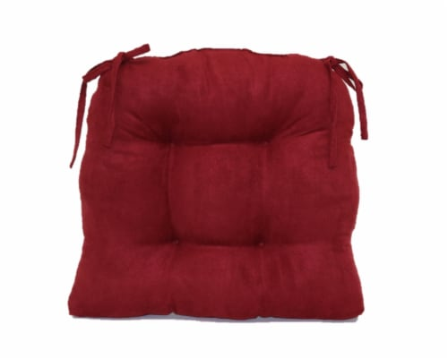 Brentwood Originals Jasper Chair Pad - Burgundy Perspective: back