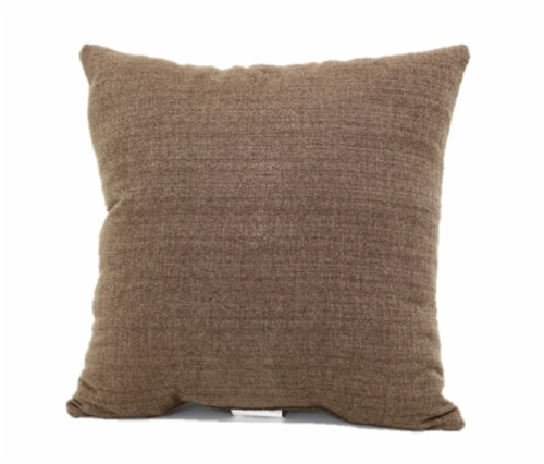 Brentwood Stafford Button Decor Pillow - Brown Perspective: back