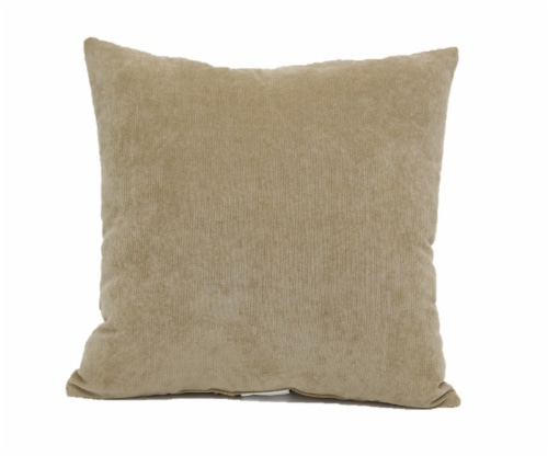 Brentwood Cheyenne Pinsonic Decor Pillow - Oatmeal Perspective: back