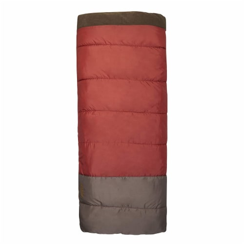 Wenzel Lodgepole 40 to 50 Degree Fahrenheit Camping Sleeping Bag, Adult (Red) Perspective: back