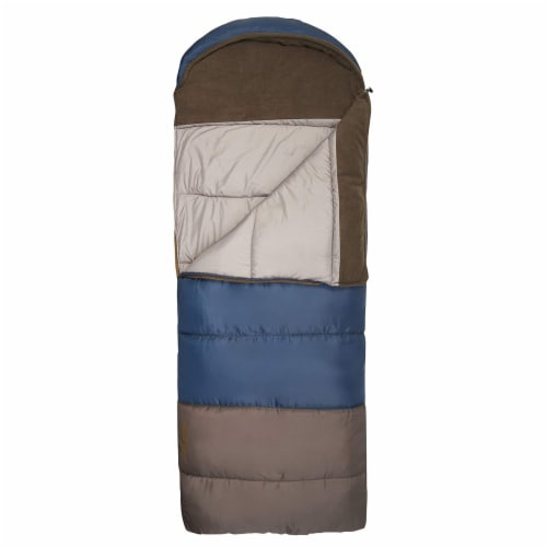 Wenzel Monterey 30 to 40 Degree Fahrenheit Hooded Camping Sleeping Bag, Adult Perspective: back