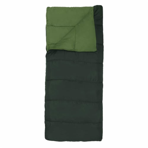 Wenzel Cascade 40 to 50 Degree Fahrenheit Camping Sleeping Bag, Adult (Green) Perspective: back