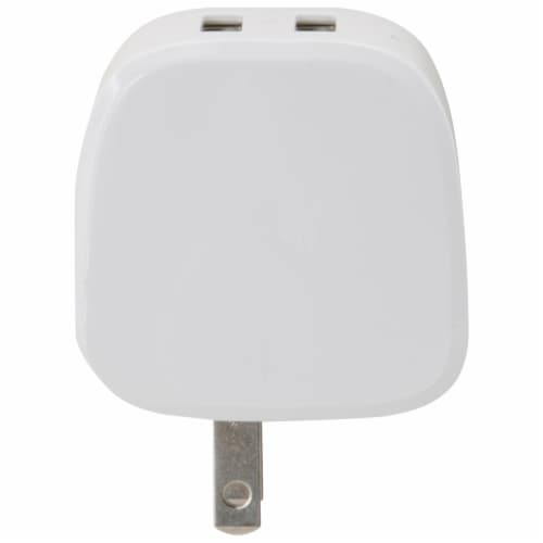 iLive AC to Dual USB Wall Charger - White Perspective: back
