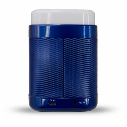 iLive Touch Light Bluetooth Speaker - Blue/White Perspective: back
