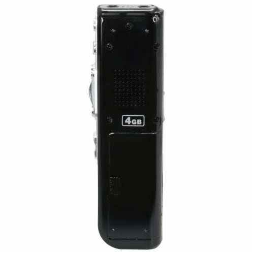 GPX Digital Voice Recorder - Black Perspective: back
