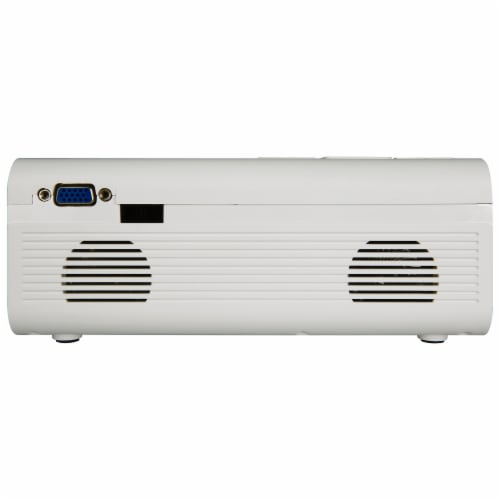 GPX Mini Projector - White Perspective: back