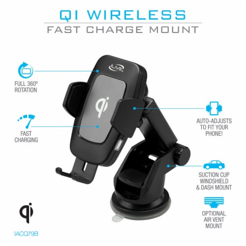 iLive Wireless Charger Mount Perspective: back