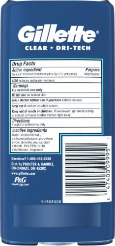 Gillette Cool Wave Clear Gel Men's Antiperspirant and Deodorant Twin Pack Perspective: back