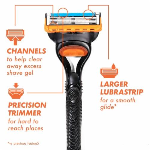 Gillette Fusion5 Men's Razor Blade Refills Cartridges Perspective: back