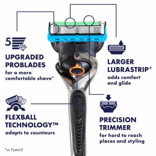 Gillette® ProGlide Men's Razor Handle + 1 Blade Refill Cartridge Perspective: back