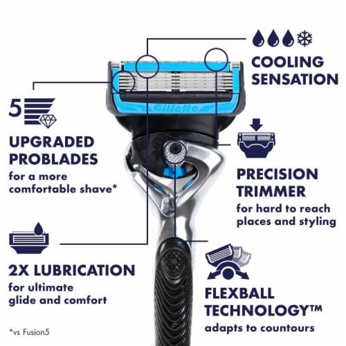 Gillette ProGlide Chill Men's Razor Handle + Blade Refill Cartridge Perspective: back