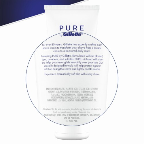 Gillette® Pure Soothing Shave Cream with Aloe Perspective: back