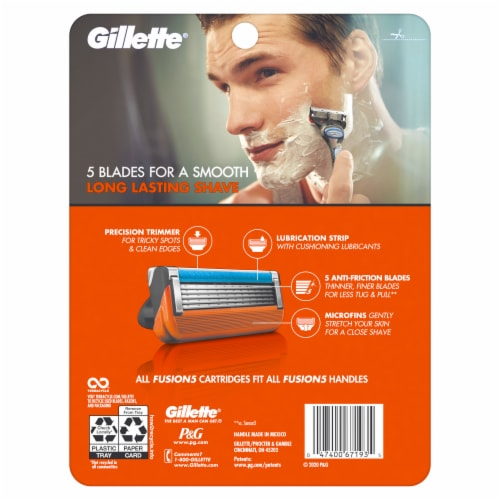 Gillette Fusion5 Razor and Cartridges Perspective: back
