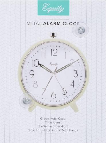 La Crosse® Technology Metal Tabletop Alarm Clock - Green Perspective: back