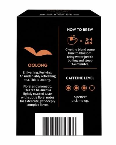 Choice Organics Oolong Tea Bags Perspective: back