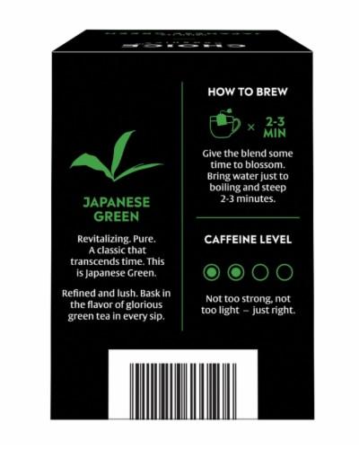 Choice Organic Japanese Green Tea Bags Perspective: back