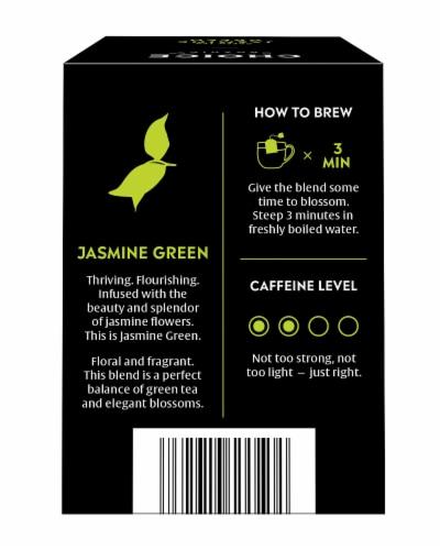 Choice Organic Jasmine Green Tea Bags Perspective: back