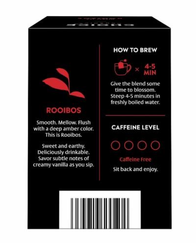 Choice Organics Rooibos Herbal Tea Bags Perspective: back