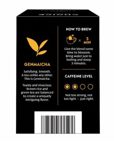 Choice Organics Genmaicha Green Tea Bags Perspective: back