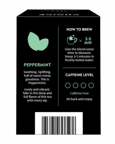 Choice Organics Peppermint Tea Bags Perspective: back