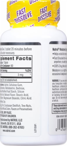 Natrol Melatonin 3mg Supplement Perspective: back