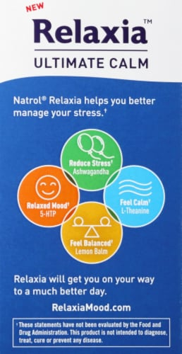 Natrol Relaxia Ultimate Calm Capsules Perspective: back
