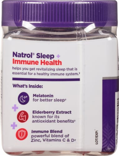Natrol Sleep + Immune Health Berry Gummies Perspective: back
