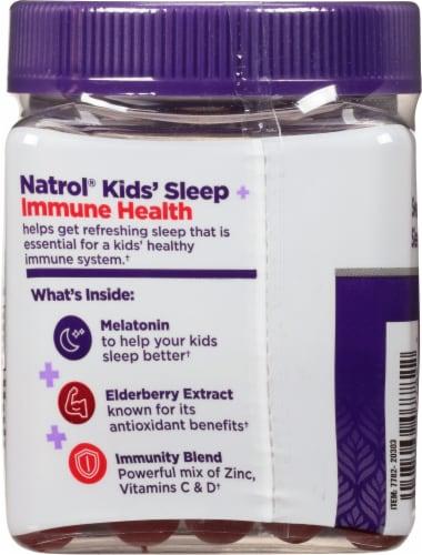 Natrol® Kids Sleep + Immunity Berry Gummies Perspective: back