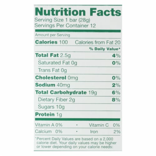 Natures Bakery Apple Cinnamon Fig Bar, 2 Ounce -- 36 per case. Perspective: back