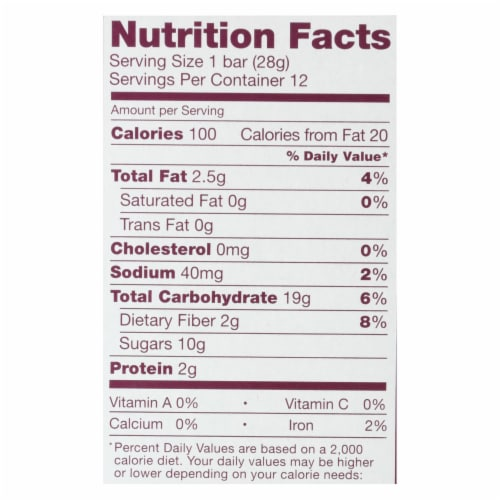 Nature's Bakery Stone Ground Whole Wheat Fig Bar - Original - Case of 6 - 2 oz. Perspective: back