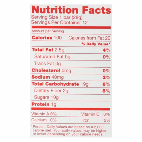 Nature's Bakery Stone Ground Whole Wheat Fig Bar - Strawberry - Case of 6 - 2 oz. Perspective: back