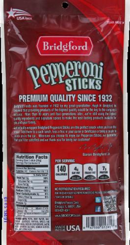 Bridgford Pepperoni Sticks Perspective: back