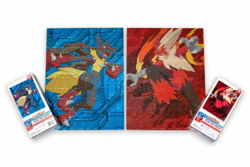 Pokemon XY VS Series Ultra Foil 100 Piece Jigsaw Puzzle Set   Includes 2 Puzzles Perspective: back