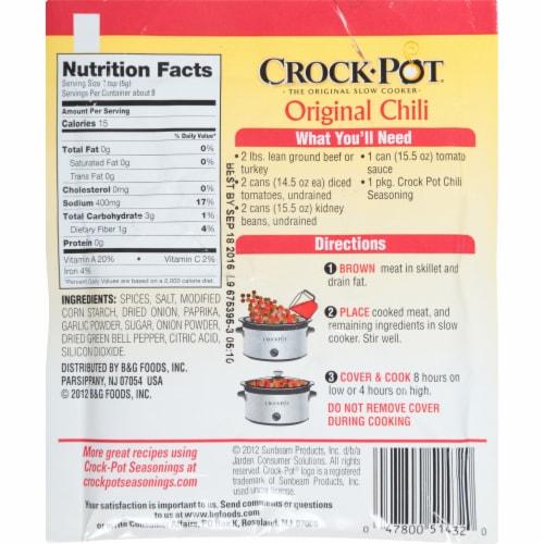 Crock-Pot Original Chili Seasoning Mix Perspective: back