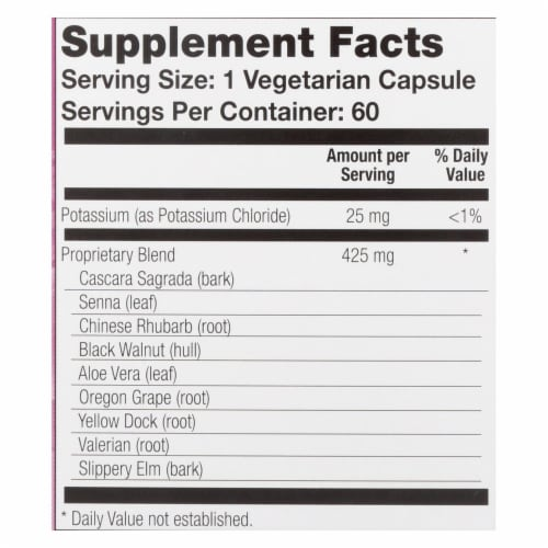 Natural Balance Colon Clenz Capsules Perspective: back