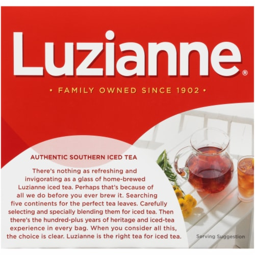 Luzianne Iced Tea Bags Perspective: back