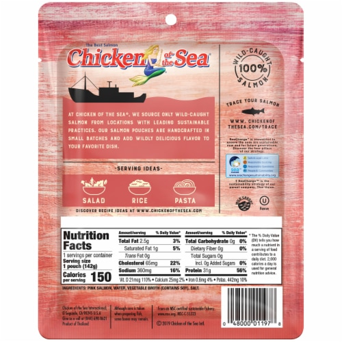 Chicken of the Sea® Skinless and Boneless Pink Salmon Perspective: back