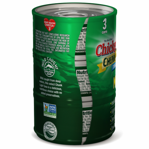 Chicken of the Sea Chunk Light Tuna In Water Mini Cans Perspective: back