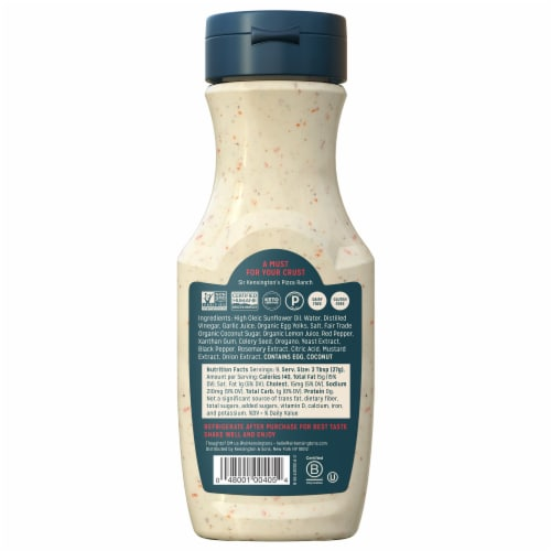 Sir Kensington's Pizza Ranch Dressing & Dip Perspective: back