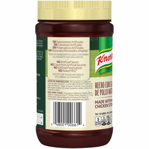Knorr Selects Granulated Chicken Flavor Bouillon Perspective: back