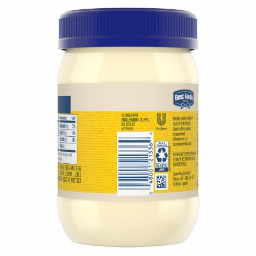 Best Foods Real Mayonnaise Perspective: back