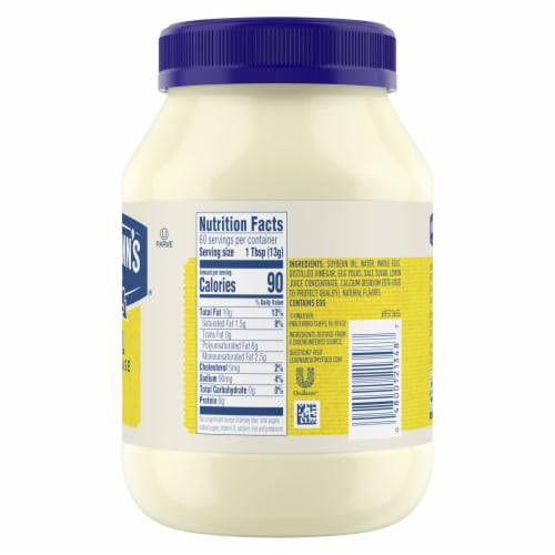 Hellmann's® Gluten-Free Real Mayonnaise Perspective: back