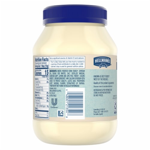 Hellmann's Low Fat Mayonnaise Dressing Perspective: back
