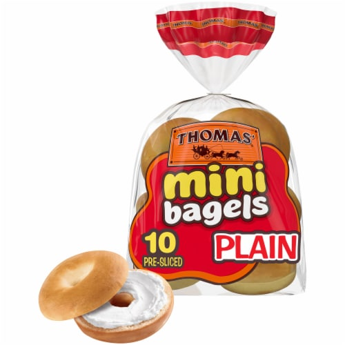 Thomas' Plain Mini Bagels Perspective: back